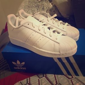 Adidas Superstar J All White Brand New